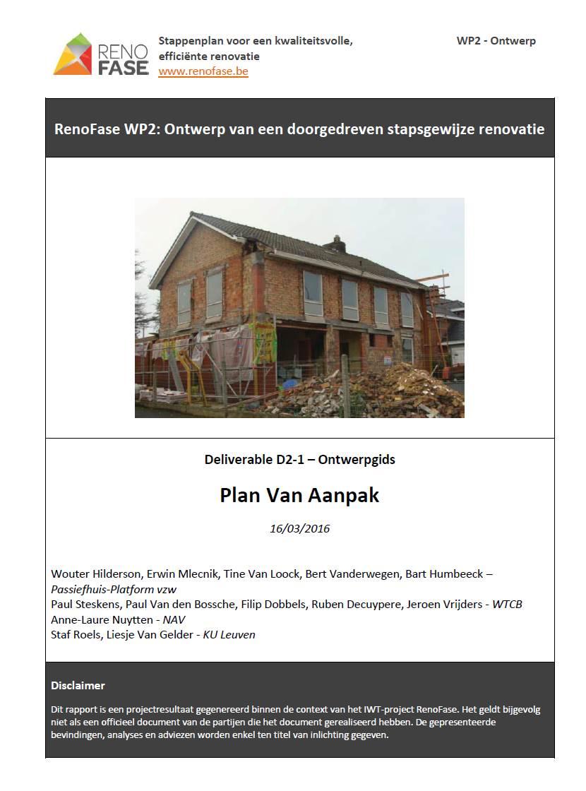 plan van aanpak voorblad Voorblad Plan van Aanpak   RenoFase plan van aanpak voorblad